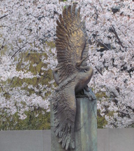 The annual Cherry Blossom Freedom Walk will begin at the National Japanese American Memorial to Patriotism During World War II at 9 a.m. Saturday. (Photo: National Japanese American Memorial Foundation)