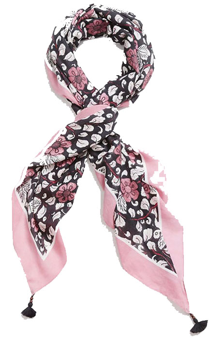 This floral scarf can also be worn as a shrug or a sarong and 30 percent goes to the artisans who made it. (Photo: Loft)