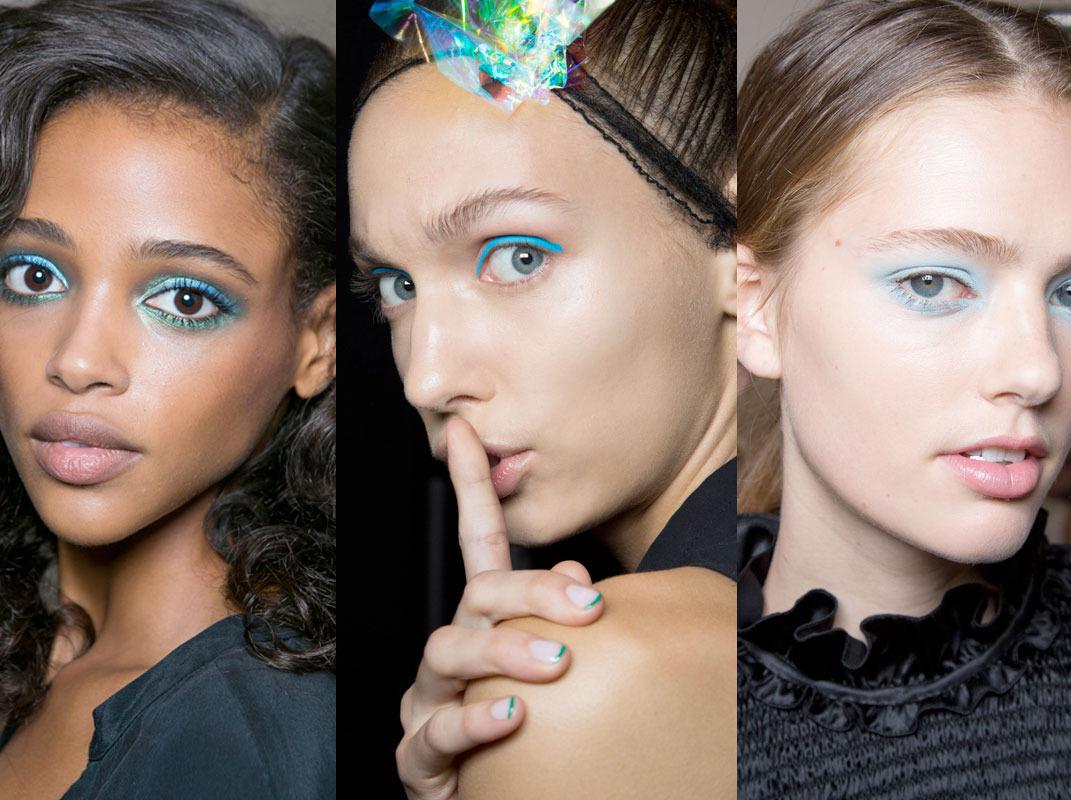 Beauty spring trend blue eye makeup