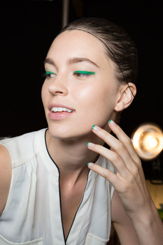 Nail art and French manicures with a colorful twist are trending for spring. (Photo: Popsugar)