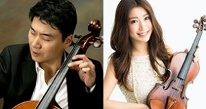 Musicians Tim Park and Mayu Kishima perform as part of the 6821 Quintet. (Photo: National Cherry Blossom Festival)
