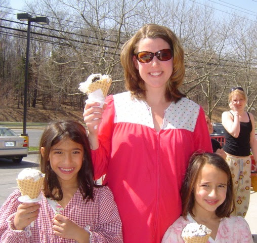 Visitors in the pajamas to Bruster's Real Ice Cream in Gaitherburg on Saturday will get a free single-scoop waffle cone. (Photo: Bruster's Real Ice Cream)