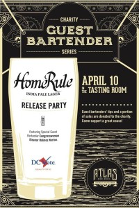 Atlas Brew Works introduces it's Home Rule IPL beer Sunday while raising funds for D.C. Vote. (Graphic: Atlas Brew Works)