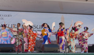 Traditional Japanese dancers perform at the Sakura Matsuri Japanese Street Festival. (Photo: smata2/flickr)