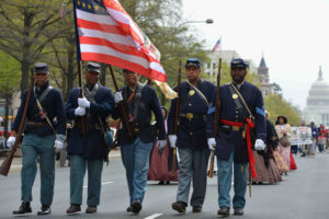 Marchers in last year's D.C. Emancipation Day Parade. (Photo: Don Baxter)