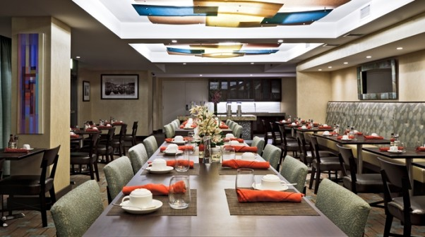 The dining room at the former Todd Gray's Watershed in the NoMA Hilton Garden Inn. (Photo: Hilton Garden Inn)