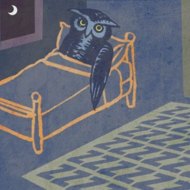 A new study found a link between adequate sleep, earlier bedtimes and heart-healthy behavior. (Illustration: Jeffrey C. Chase/University of Delaware)