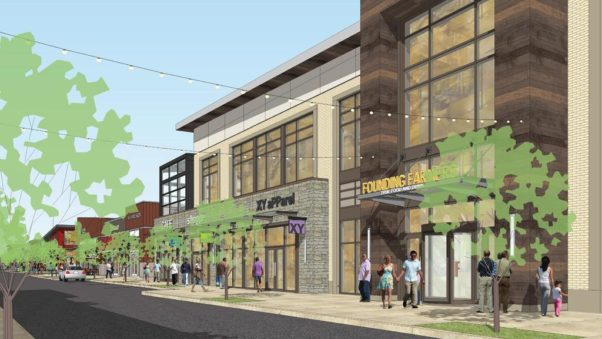 A conceptual drawing of Founding Farmers new King of Prussia restaurant. (Graphic: JBG Cos.)