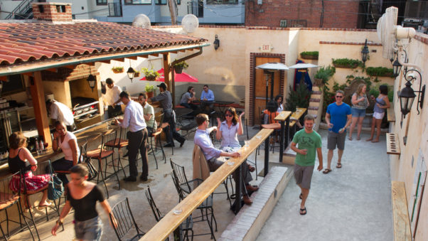 Vinoteca has reopened its backyard plaza (pictured) and frontyard patio for the season. (Photo: Vinoteca)