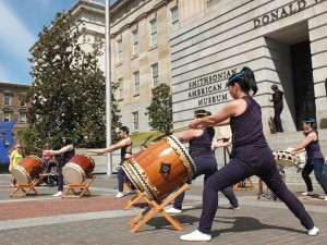 Taiko drummers will perform at the Smithsonian American Art Museum's Cherry Blossom Celebration on Saturday. (Photo: Smithsonian American Art Museum)