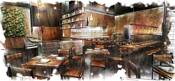Los Angeles-based Jinya Ramen Bar will open in Fairfax's Mosaic District in late spring. (Rendering: Jinya Ramen Bar)