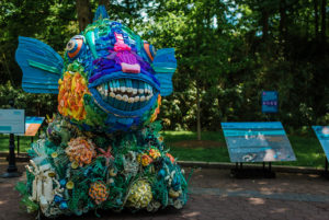 """Washed Ashore"" at the National Zoo featuring 17 wildlife sculptures made out of plastic harvested from beaches around the world closes Monday. (Photo: National Zoo)"