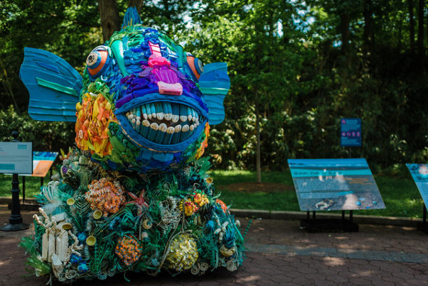 """Washed Ashore"" at the National Zoo features 17 wildlife sculptures made out of plastic harvested from beaches around the world. (Photo: National Zoo)"
