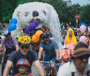 The Tour de Fat at Yards Park on Saturday includes a costumed bike parade. (Photo: Tour de Fat)