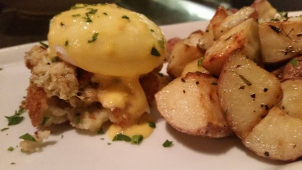 Grillfish is serving a new weekend brunch including a lump crab cake benedict. (Photo: Grillfish/Facebook)