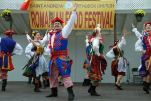 Romanian dancers perform at St. Andrew's Romanian Food Festival. (Photo: Teodora Bindu)