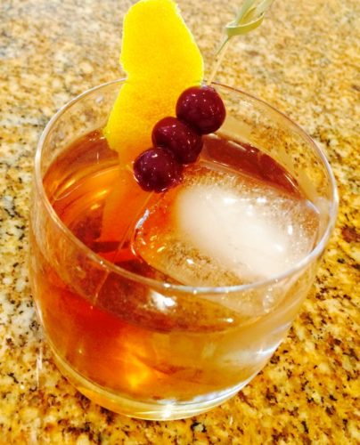 The Fig Old Fashioned at Central is made with Evan Williams bourbon, fig syrup and lemon bitters. (Photo: Central)