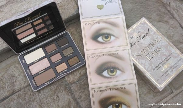 Too Faced's eye shadow comes with a how-to guide to take your eye makeup from day to night. (Photo: mybeautycorner.ba)