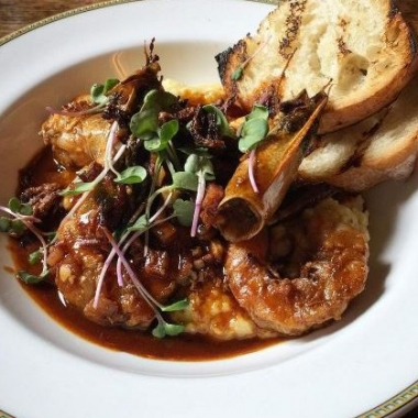 Beuchert's Saloon begins lunch serving Tuesday with a menu that features shrimp and grits. (Photo: get_sumner/Instagram)