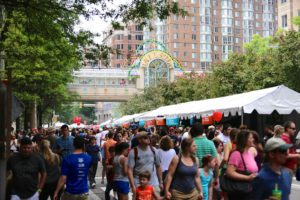 Taste of Arlington in Ballston includes food from more than 40 restaurants. (Photo: Ballston BID)