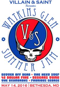 The Watkins Glen Summer Jam at Villain & Saint pays tribute to the 1973 Watkins Glen Summer Jam with cover bands. (Graphic: Villain & Saint)