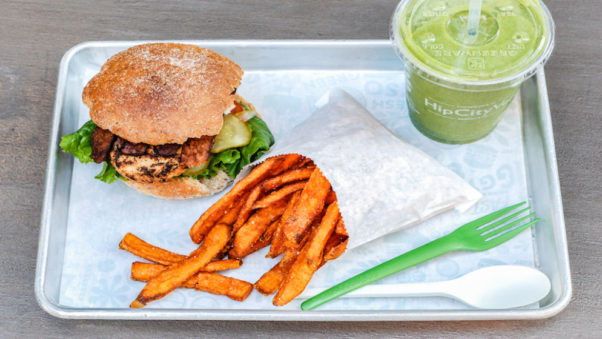 The new HipCityVeg vegan restaurant in Chinatown will offer free lunches from noon-2 p.m. on Wednesday. (Photo: HipCityVeg)