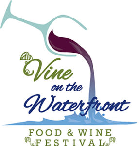 The Wine on the Waterfront food and wine fest is at Oronoco Bay Park this Saturday. (Illustration: Vine on the Waterfront)