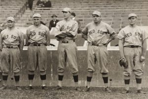 Babe Ruth and other Red Sox pitchers. (Photo: Underwood & Underwood/National Portrait Gallery)