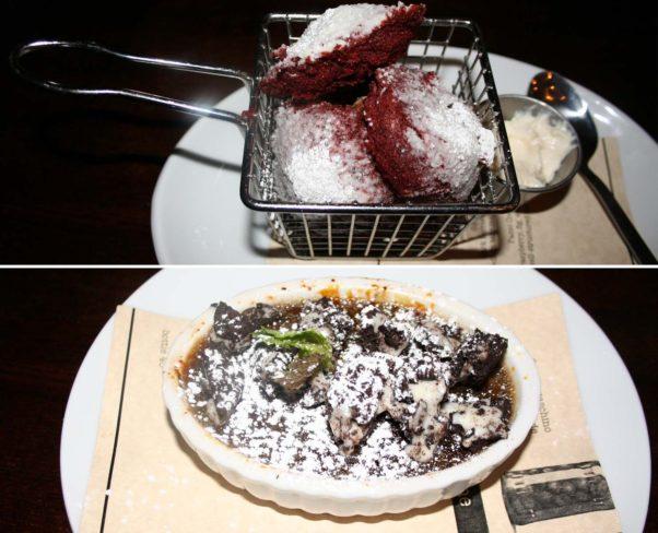 Desserts include deep fried Oreos and a seasonal crème brûlée. (Photos: Mark Heckathorn/DC on Heels)
