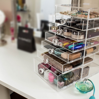 Use a makeup organizer to make your vanity look more put together. (Photo: Etsy)