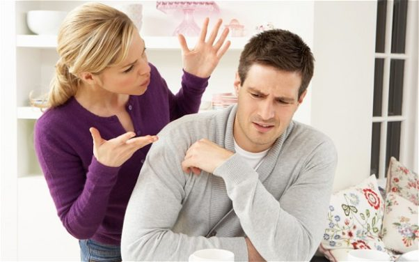 Reaching a relationship road bump? Sit down and talk it out. (Photo: Almay))