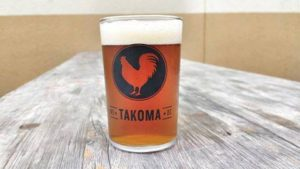 Taster beer from local brewers and food from local restaurants at Takoma Trukgarten on Saturday. (Photo: Main Street Takoma)