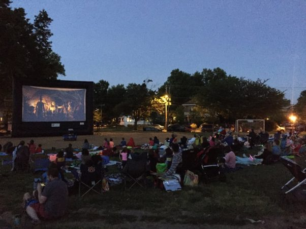 The Rosemont Reel will show movies at Alexandria's Maury Elementary School playground one Saturday a month through September. (Photo: The Rosemont Reel/Facebook)