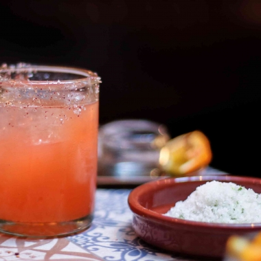 Rosa Mexicano has introduced a new agave drink program in Penn Quarter than includes this Strawberry-Pink Peppercorn with Cimmarón Blanco tequila, strawberry puree, yellow chartreuse, lemon and house-made pink peppercorn tincture. (Photo: Rosa Mexicano)