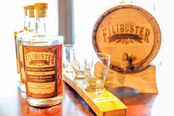 Brasserie Beck and Mussel Bar & Grille have a custom whiskey from Filibuster Distillery. (Photo: Robert Wiedmaier Restaurant Group)