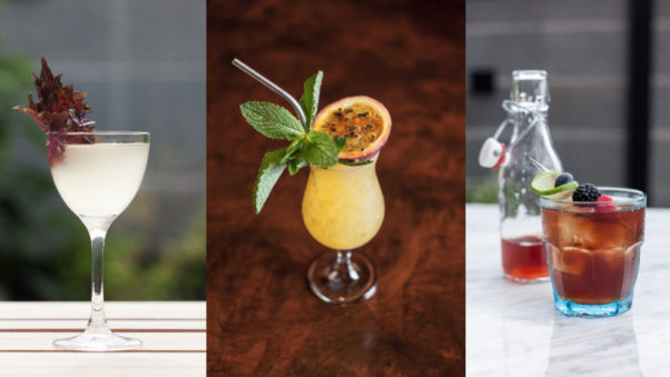 The Columbia Room's new summer cocktail menu includes We Came for the Gold (left to right), Coctel de Tamayo and the bottled Jote. (Photos: Bobby Spero)