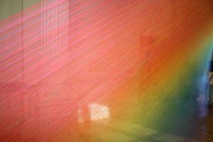 """Gabriel Dawe's colorful """"Plexus A1"""" exhibit will come down after this weekend at the Renwick. (Photo: Mark Heckathorn/DC on Heels)"""