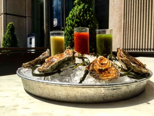 BLT Steak will be serving three special oyster shooters all week in honor of National Oyster Day. (Photo; BLT Steak)
