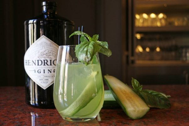 Jardenea Lounge in the Melrose Georgetown Hotel has a new seasonal cocktail menu that includes the cucumber and basil Collins. (Photo: Jardenea Lounge)