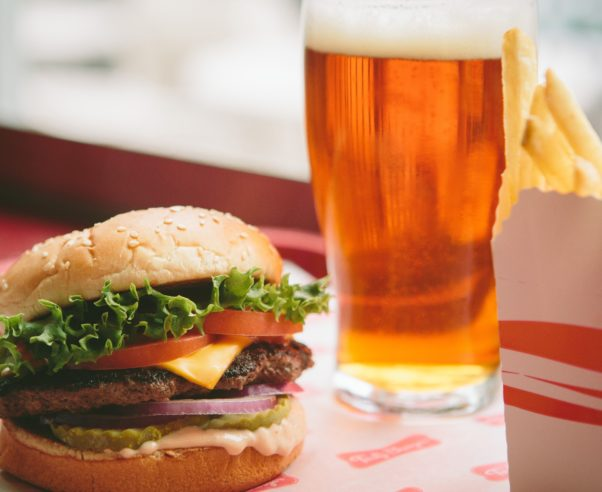 The Big Tasty is the chain's signature burger, shown here served with Tasty Ale and French fries. (Photo: Tasty Burger)
