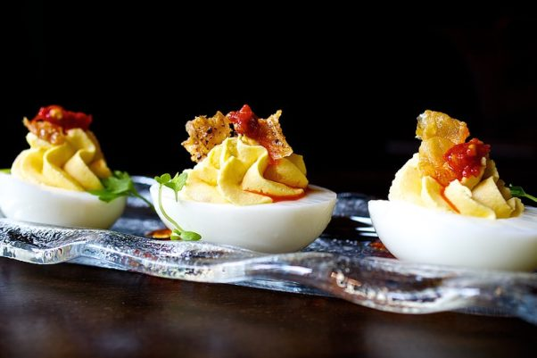 The Riggsby is serving a throwback menu with classics like deviled eggs during its first anniversary cocktail party. (Photo: The Riggsby)
