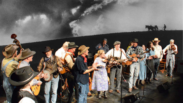 """""""Rain Follows the Plow"""" is an original musical illuminating the human stories of the Dust Bowl of the 1930s, considered America's worst man-made ecological disaster so far, performed by 15 area folk/Americana artists. (Photo: Capital Fringe Festival)"""
