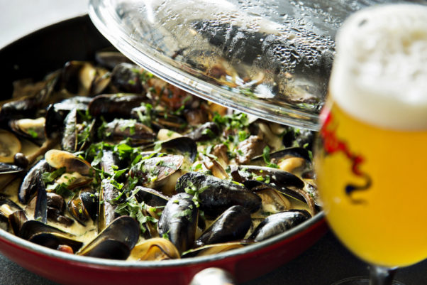 Belgian Restaurant Week includes a mussel throw down on July 21 at Storey Park. (Photo: Mussel Bar & Grille)
