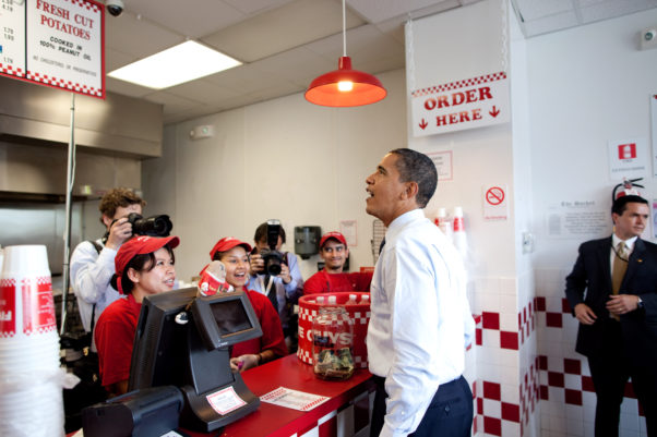 President Obama orders lunch at Five Guys in Washington, D.C. (Photo: Pete Souza/White House)