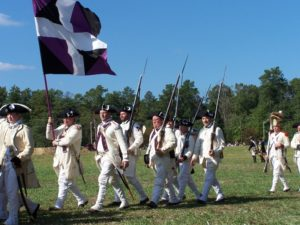 Reenactors from the Regiment de Gatinois will be at French Encampment Day at Anderson House. (Photo: Harvard Society),