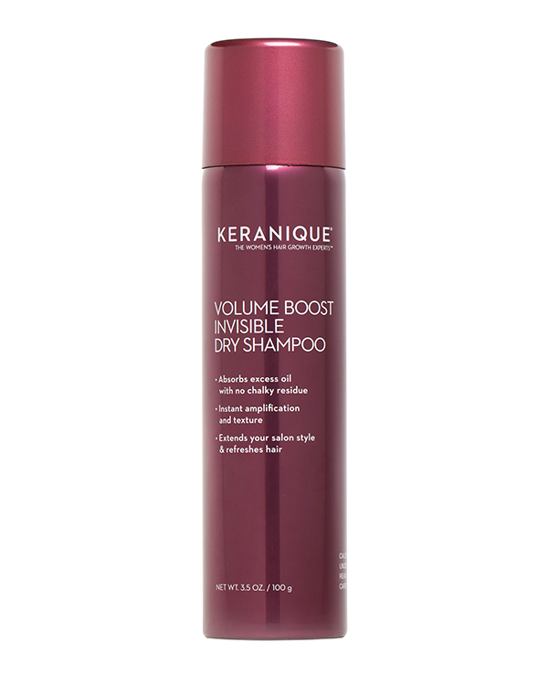 With this dry shampoo you don't have to worry about any white reside staying on your head because it goes on invisible. (Photo: Keranique)