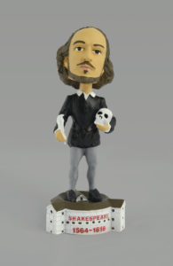 "A Shakespeare bobblehead from the Folger Shakespeare Library's ""Will and Jane"" exhibit. (Photo: Folger Shakespeare Library)"