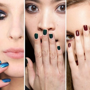 This year's trending fall nail colors are more like you'd expect to find at Christmas than in autumn. (Photo: Fashionisers)