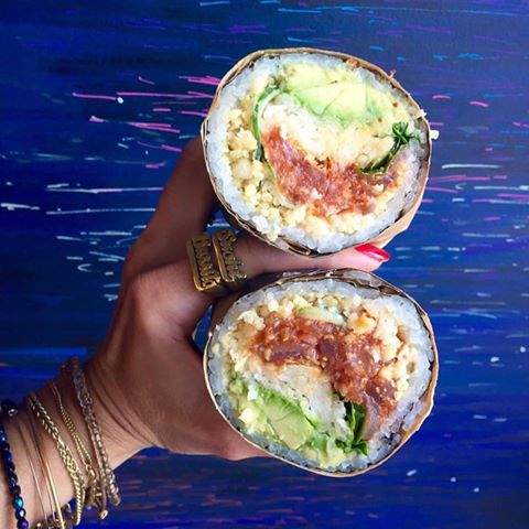 Buredo opened a second location last week in Dupont with unique dishes like the Gogo sushi burrito, pictures above. (Photo: Buredo)