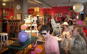 Shoppers check out the deals at Miss Pixie's during the MidCity Dog Days. (Photo: Borderstan)